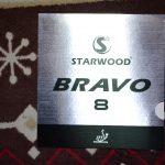 強い粘着と変化・弾性のバランスの良さが特徴<br>「STARWOOD BRAVO8」 1.0mm